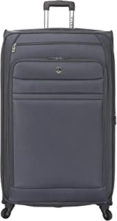 Travelers Club Business Class Expandable Spinner Luggage, Charcoal Grey, 32 Inch