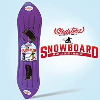 Sledsterz The Original Kids' Snowboard by Geospace in Purple