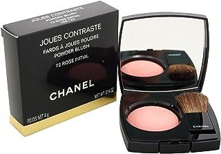 Chanel Joues Contraste Powder Blush No. 72 Rose Initial for Women Blush, 0.18 Ounce