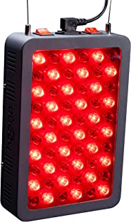 Red Light Therapy Device by Hooga, Red 660nm Near Infrared 850nm, 60 LEDs, Cooling Fans, High Irradiance for Skin, Pain Relief, Anti Aging, Muscle Recovery, Energy, Performance. HG300.