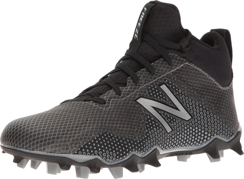 New Balance Men's FREEZV1 Lacrosse schuhe, schwarz Silber, 15 D US