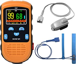CMI Handheld Pulse Oximeter - with Adult and Infant (Under 20 lbs) Sensor (90-Day 100% Satisfaction Guarantee), AC Power Adapter Optional (Not Included), Not for Veterinary use
