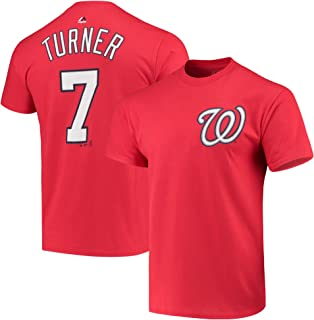 Outerstuff Trea Turner Washington Nationals Red Youth 8-20 Player Name & Number Player T-Shirt