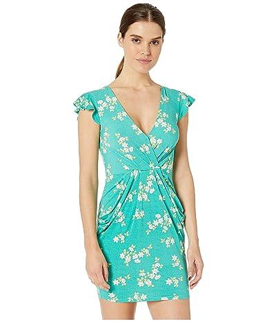 BCBGeneration Drapey Pocket Flutter Sleeve Dress TWX6200128 (Jade Green) Women