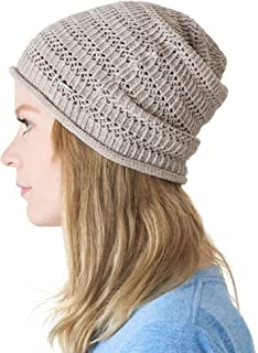 CHARM Casualbox | Natural Hemp Beanie Linen Knit Hat Sweat Wicking Hipster Mesh Summer