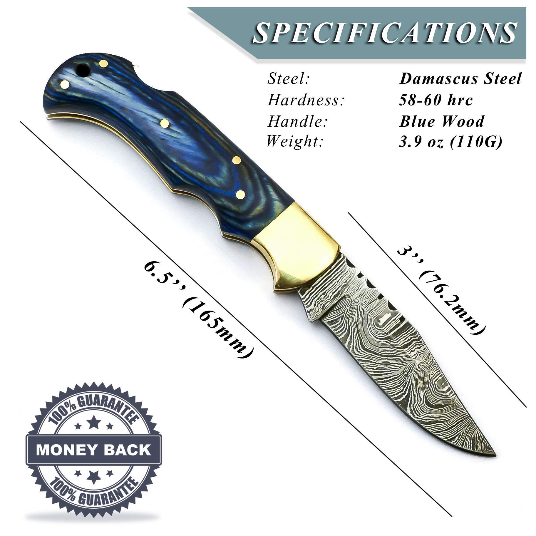 Messer Handgemacht 50HF Bushcraft Amazoque EDC Custom Knive