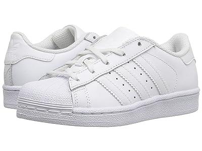 adidas Originals Kids Superstar (Little Kid) (White/White) Kids Shoes