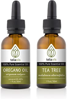 Antiseptic Essential Oils Set 2/30 Ml (Tea Tree, Wild Oregano Oil) - 100% Pure, Therapeutic Grade, for Aromatherapy Gift Collection