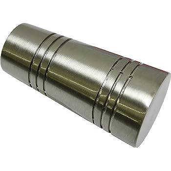Durchmesser 20 mm GARDINIA Endkn/öpfe f/ür Gardinenstangen 2 x Endst/ück Sari Messing-Antik Serie Chicago Metall