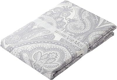 西川産業 掛けふとんカバー グレー シングル ズレないフットクロス 壁紙風 綿100% 日本製 ヴィーモア PI09100659GR