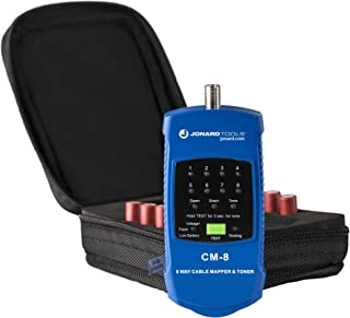 Jonard CM-8 Coax Cable Mapper 8 Way and Toner Kit, Tests Up to 4000' Cable Length