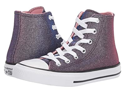 Converse Kids Chuck Taylor All-Star Space Star Hi (Little Kid/Big Kid) (Coastal Pink/Silver/White) Girls Shoes