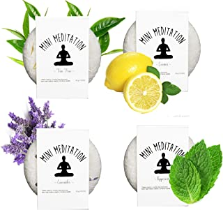 Organic Shampoo Bar 4-Pack | 7.2 oz | 6 month supply | All Natural Essential Oil Hair Bar Shampoo | 4 Scents: Lavender, Citrus, Tea Tree, and Peppermint | Free From Dyes, Sulfates, Harsh Chemicals