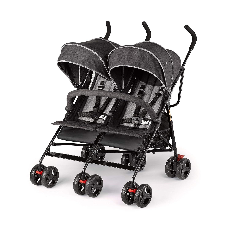 Dream On Me, Volgo Twin Umbrella Stroller, Black (446-BLK)