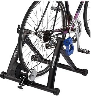 comprar comparacion Relaxdays Rodillo Bicicleta Plegable para Ruedas de 26 - 28 Pulgadas, Antideslizante, Acero, 41 x 54,5 x 60 cm, Negro