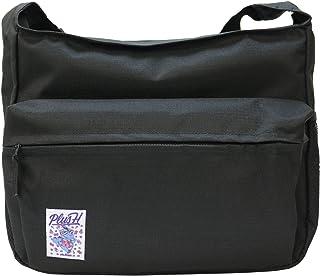プラスエイチ(Plus H) ショルダーバッグ メッセンジャーバッグ フルカラー刺繍パッチ付き メンズ レディース PH8358