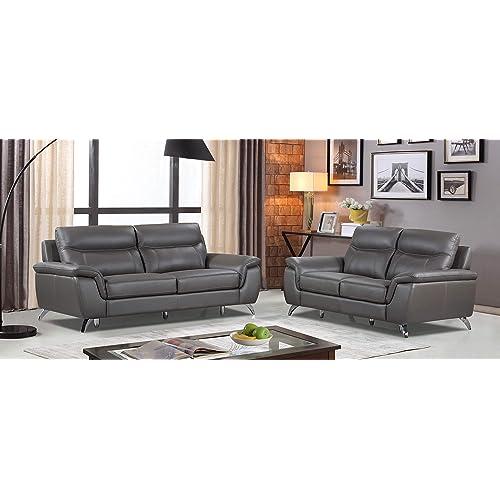 Genuine Leather Sofa Set: Amazon.com
