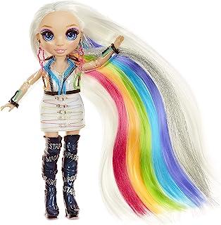 Rainbow High Studio fryzjerskie - Ekskluzywna lalka Amaya Raine z bardzo długimi i zmywalnymi kolorami włosów 5 w 1