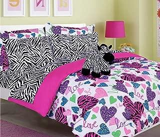 Best pink zebra full size bedding Reviews