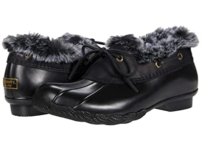 Sperry Saltwater 1-Eye Cozy (Black/Black) Women