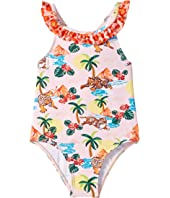 Kenzo Kids - Printed Palm Tree One-Piece Swimsuit (Infant)