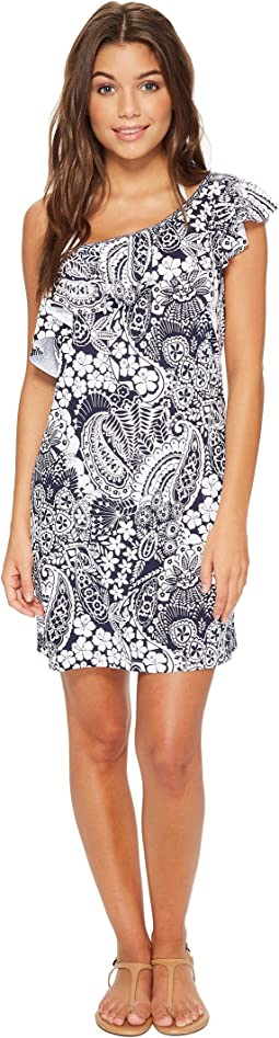 Paisley Paradise Off-The-Shoulder Swim Dress Cover-Up