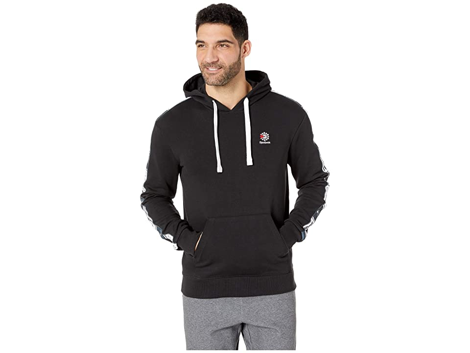 Reebok Classics Taped Over the Head Hoodie (Black) Men