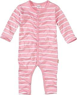 a3cc12d278 wellyou, Schlafanzug, Pyjama für Mädchen, Einteiler Langarm, Baby Kinder,  rosa weiß