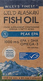 Wiley's Finest Peak EPA Fish Oil Capsules - 60 caps by Wiley's Finest