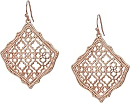 Rose Gold Filigree Metal
