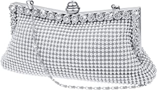 Evening Clutch Bag Wedding Prom Party Handbag Night Purse with Short and Long Chain for Christmas Present Gift