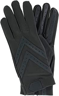 Isotoner Women's Unlined Touchscreen Leather Palm Driving Gloves, Large/Xlarge