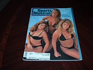 Sports Illustrated, 1994 Swimsuit Issue-Kathy Ireland, Elle Macpherson & Rachel Hunter on cover labeled The Dream Team, February 14, 1994.