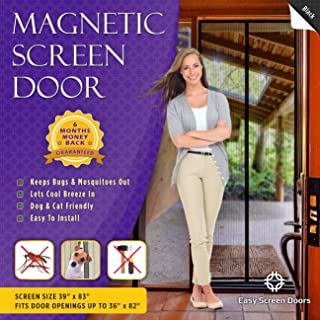Magnetic Screen Door, Mesh Curtain – Keeps Mosquitoes Out – Full Frame Velcro..