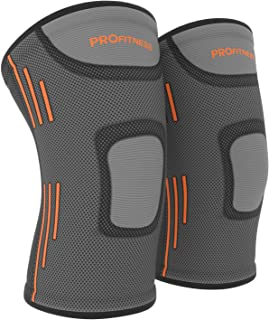 ProFitness Knee Sleeves (One Pair) Knee Support for Joint Pain & Arthritis Pain Relief - Effective Support for Running, Pain Management, Arthritis Pain, Surgery Recovery