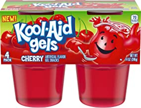 Jell-O Kool-Aid Gels Cherry Ready-to-Eat Gelatin Snack (24 Cups, 6 Packs of 4)