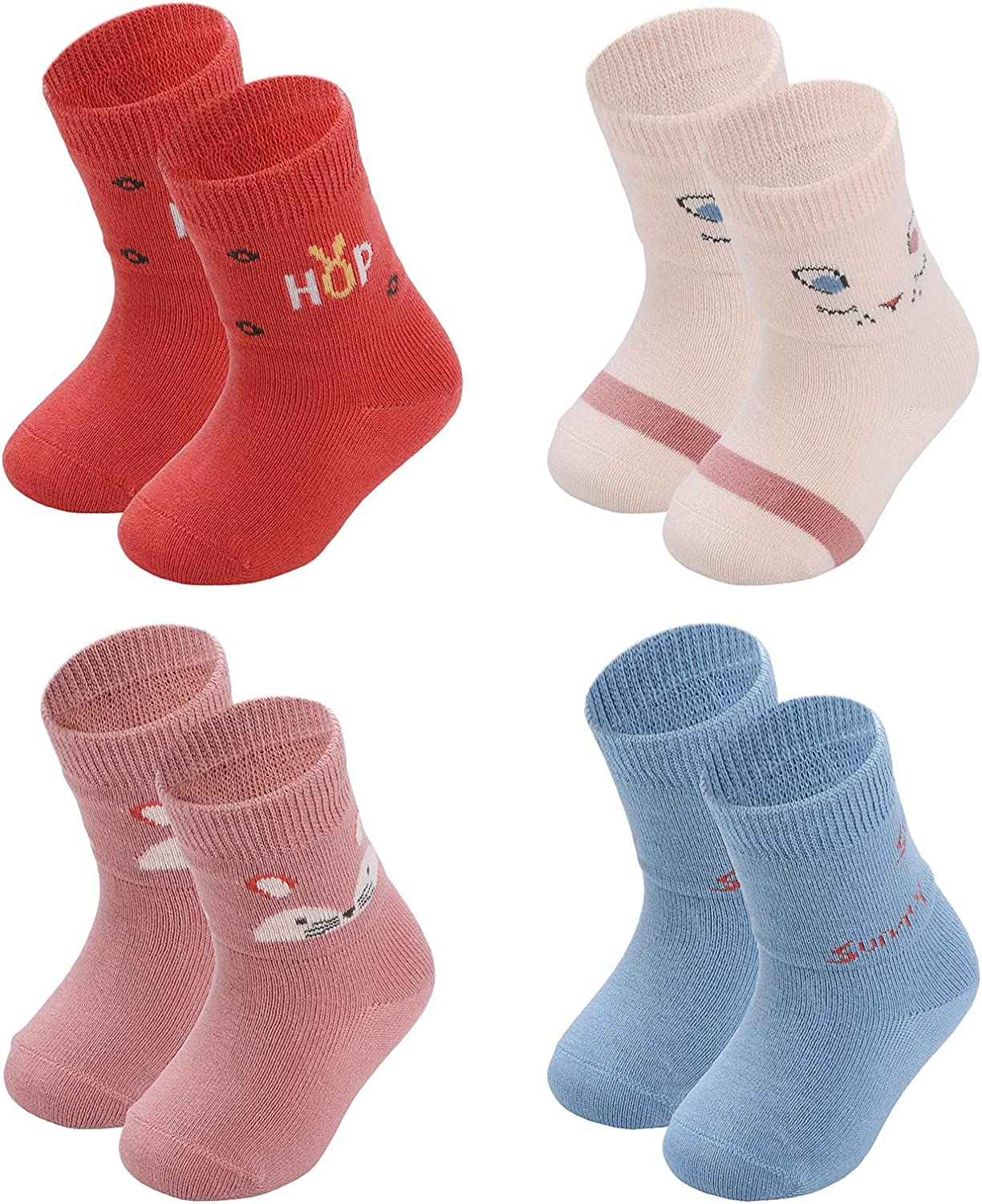 Human Max 84% OFF feelings Baby 4 PACK Surprise price so 0-12months Cutecotton infant Ankle