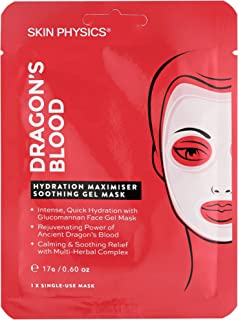 Skin Physics - Dragon's Blood Hydration Maximiser Soothing Gel Mask - Deep Hydration In Just 30 Mins - Single Use