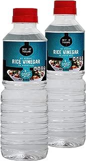 All Natural Rice Vinegar - Sugar Free, No Sodium, No MSG, Unseasoned, Kosher - 2 Bottles of 16.9-fl oz - By Best of Thailand