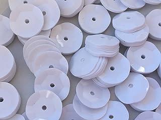 Sequins 8mm 800/Pkg White