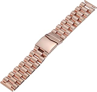 Hadley-Roma MB9024RRSE 22 22mm Stainless Steel Rose Gold Watch Strap