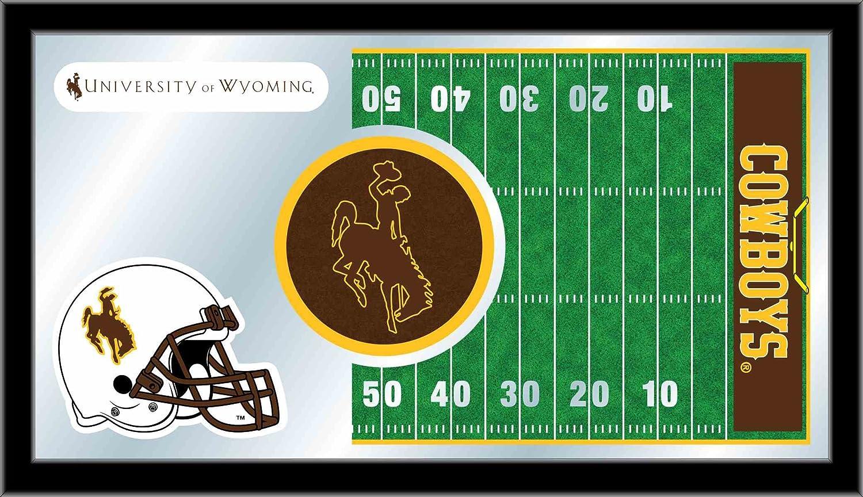 Holland Bar Stool NCAA Wyoming Cowboys 15 x 26-Inch Football Mirror