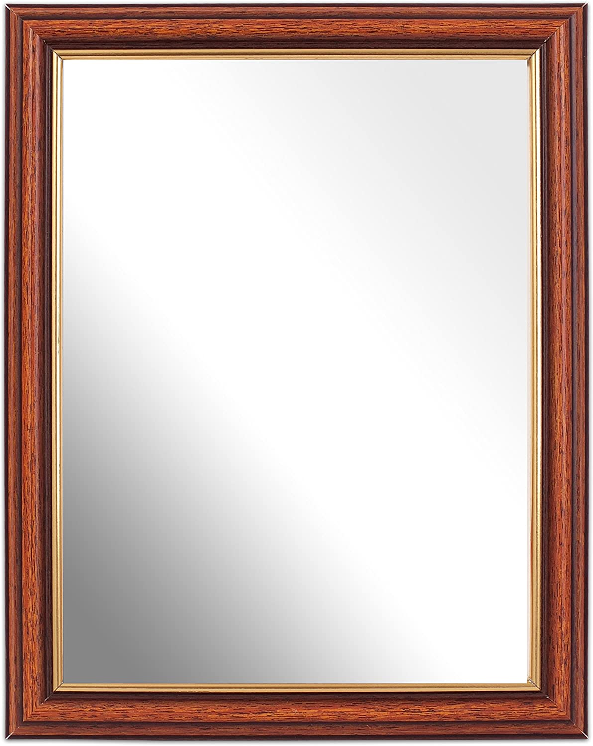 Inov8 British Made 8x6-inch Traditional Mirror, Large Washed bluee