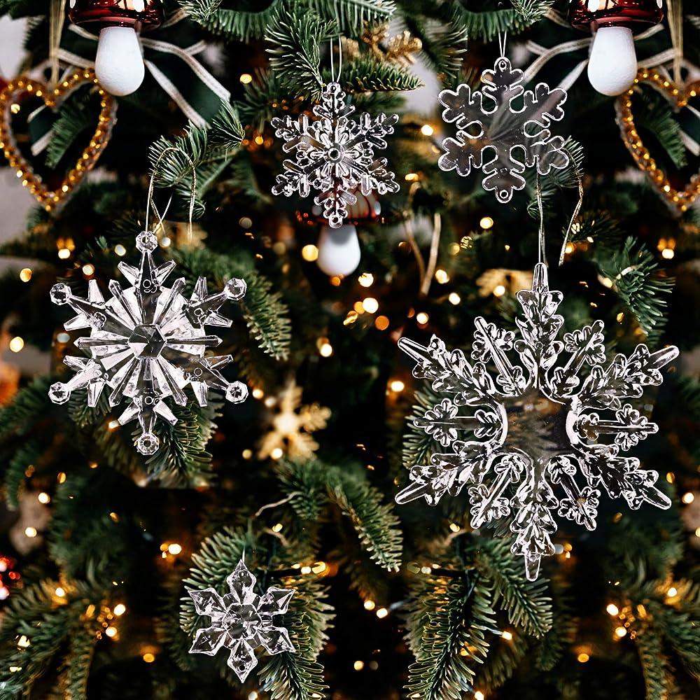 Bhgt  trasparenti decorazioni natalizie 40 pezzi CTSM0118