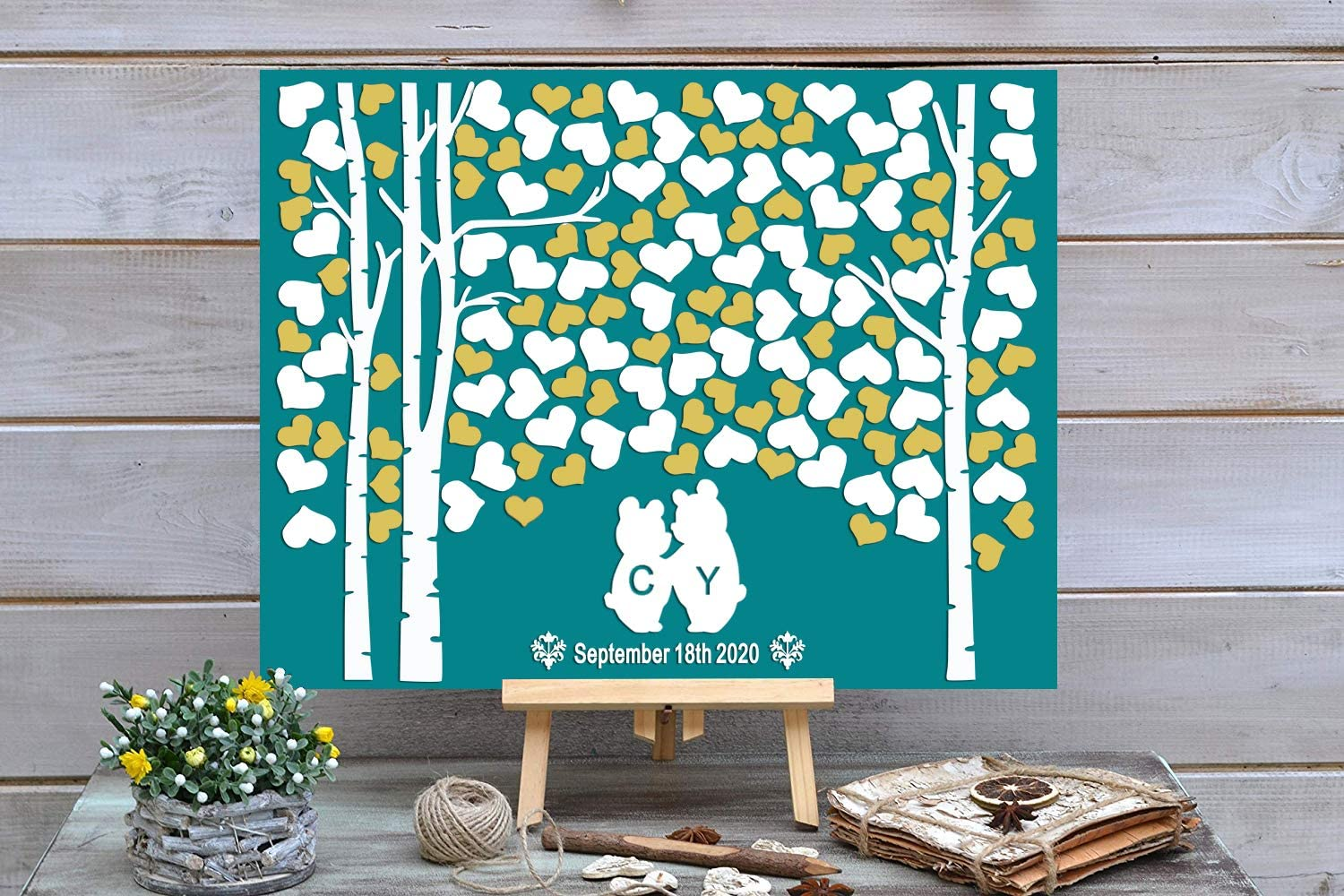 PotteLove 3D Two Trees Grow 2021 model Into Alternat Wedding High order Book Guest One