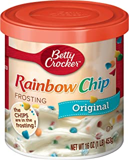 Betty Crocker Frosting, Rich & Creamy Gluten Free Frosting, Original Rainbow Chip, 16 Oz Canister
