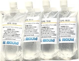 VEGETABLE GLYCERIN, PROPYLENE GLYCOL MIX/Food Grade set 52oz(13x4) 300ml (VG:PG)(80:20)(70:30)(60:40)(50:50) MADE IN JAPAN