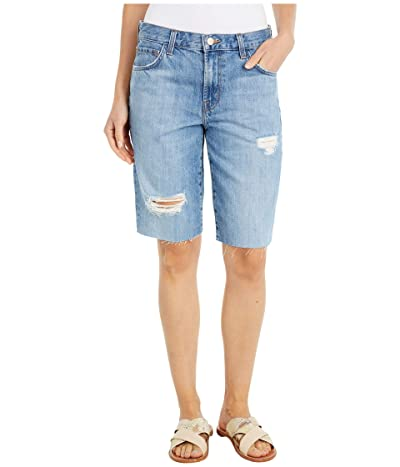 J Brand Relaxed Bermuda Shorts in Senska Destruct Women