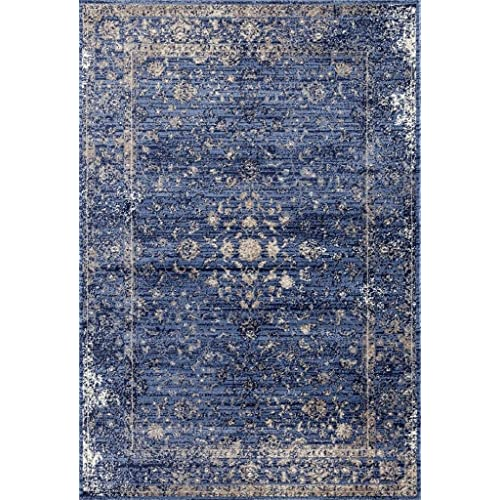 2817 Distressed Blue 5 x 7 Area Rug Carpet Large New