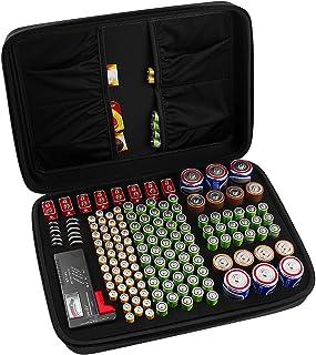 COMECASE Förvaringsbox för hårda batterier, bärväska